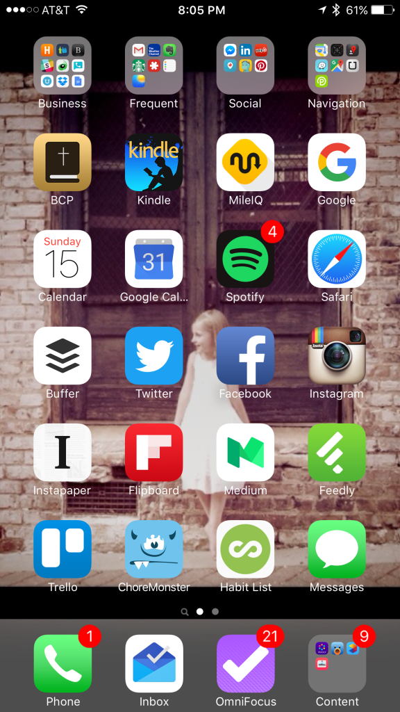 Use your home screen apps to increase productivity